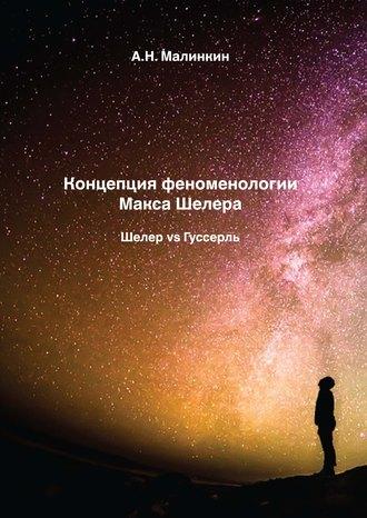 Александр Малинкин, Концепция феноменологии Макса Шелера. Шелер vs Гуссерль
