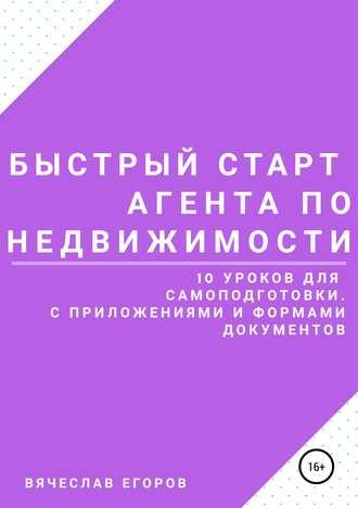Вячеслав Егоров, Быстрый старт агента по недвижимости