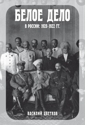 Василий Цветков, Белое дело в России. 1920–122 гг.