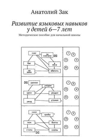 Анатолий Зак, Развитие языковыхнавыков удетей 6—7лет. Методическое пособие дляначальной школы