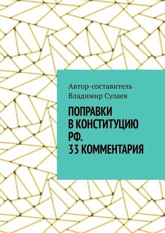 Владимир Сулаев, Поправки вКонституцию РФ. 33комментария